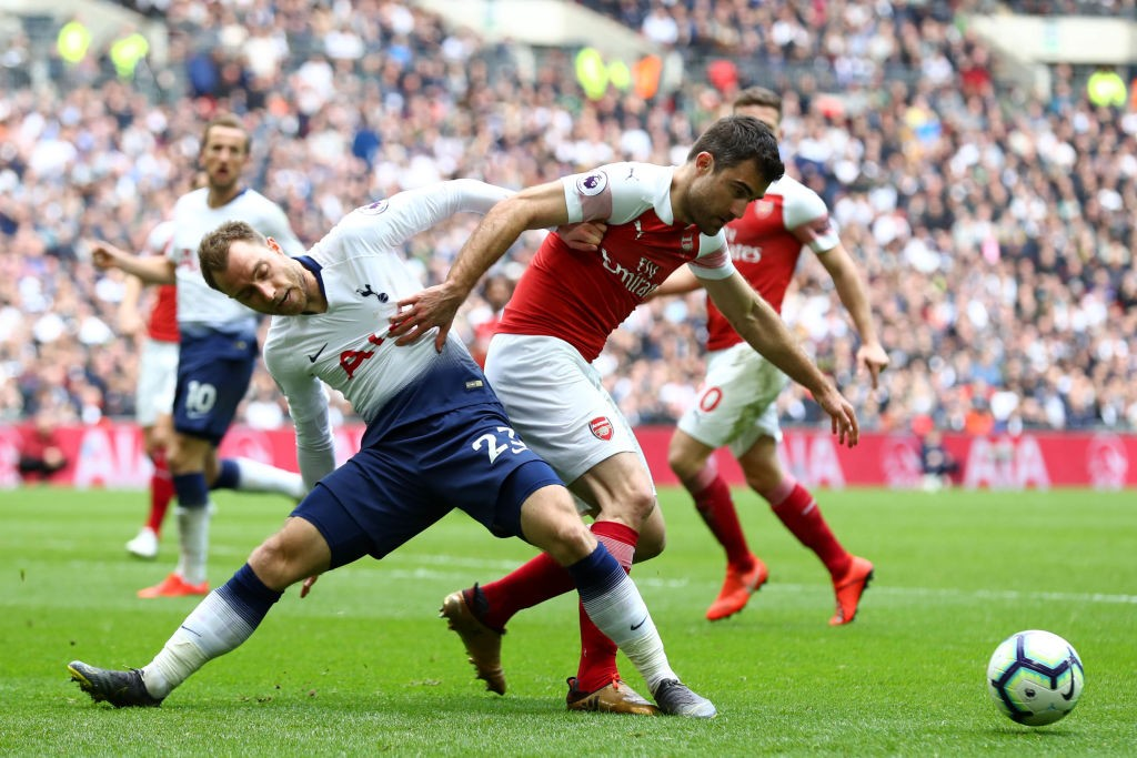 Sokratis put in a man of the match performance against Spurs. (Photo courtesy: AFP/Getty)