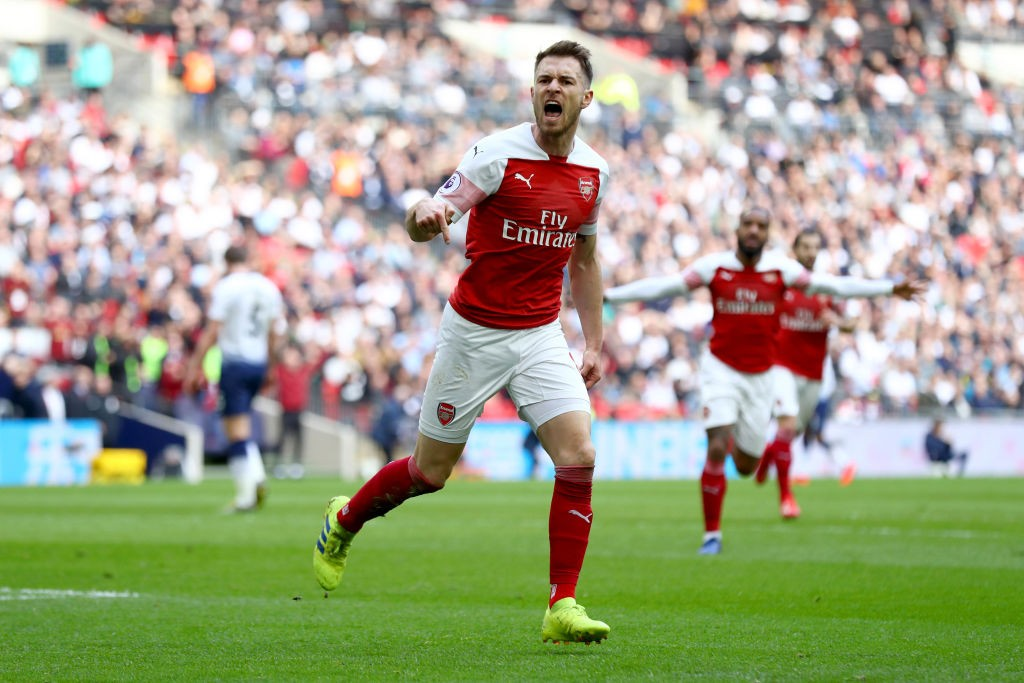 Ramsey on fire! (Photo courtesy: AFP/Getty)