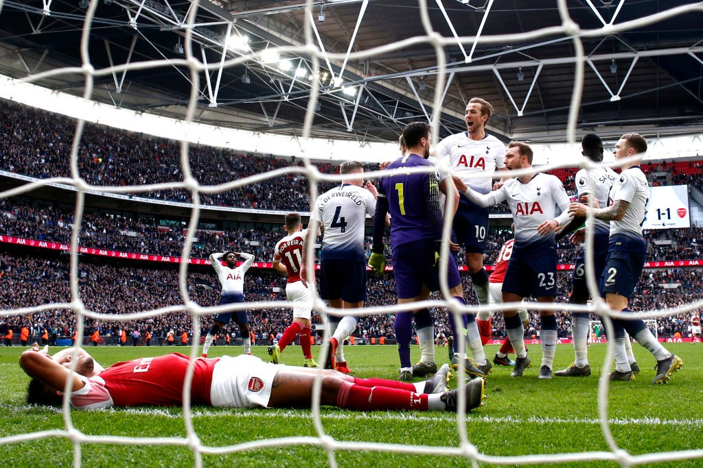 Aubameyang after missing the all important penalty against Tottenham in stoppage time. (Photo courtesy: AFP/Getty)