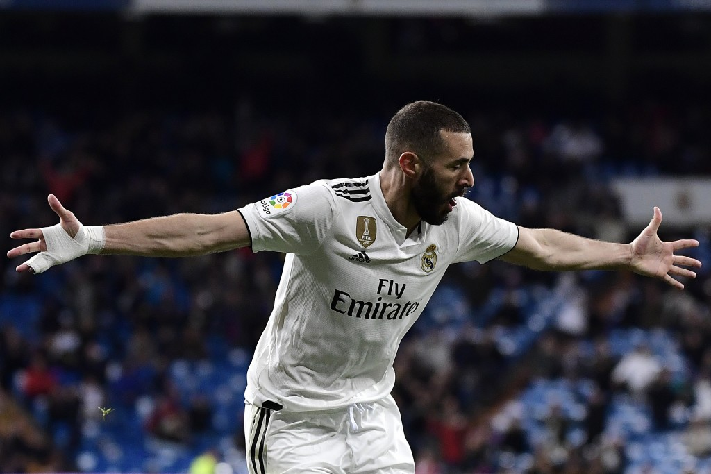 A lot will be riding on Benzema's shoulders on Saturday (Photo by JAVIER SORIANO/AFP/Getty Images)