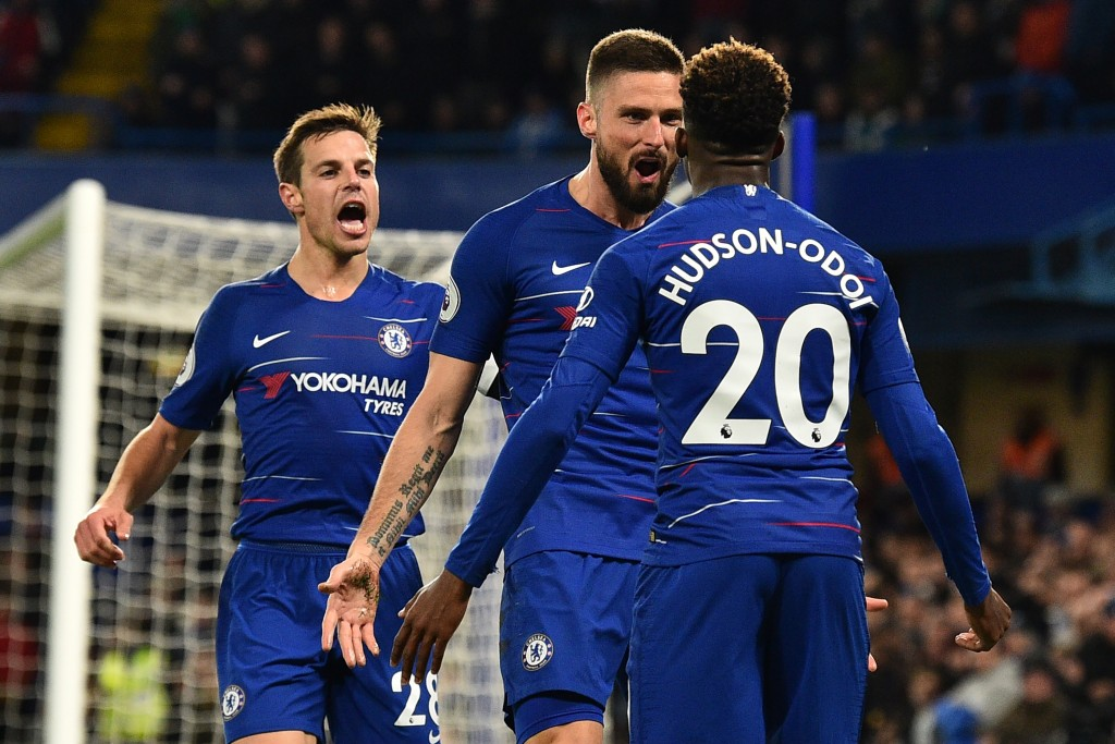 Giroud and Hudson-Odoi both impressed (Photo by GLYN KIRK/AFP/Getty Images)