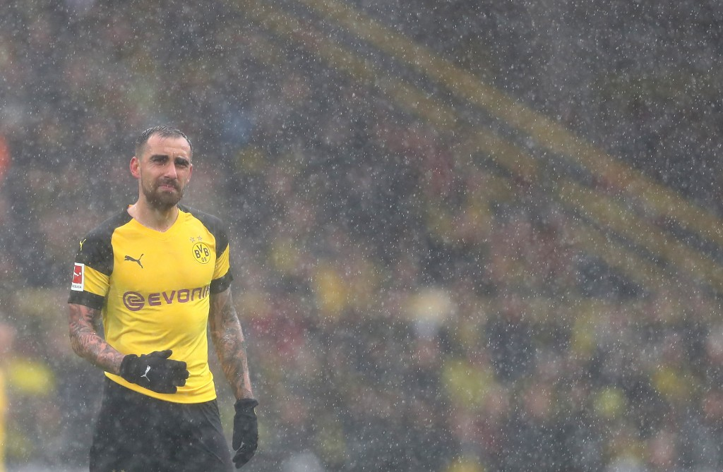 DORTMUND, GERMANY - MARCH 09: Paco Alcacer of Dortmund is seen during the Bundesliga match between Borussia Dortmund and VfB Stuttgart at Signal Iduna Park on March 09, 2019 in Dortmund, Germany. (Photo by Lars Baron/Bongarts/Getty Images)