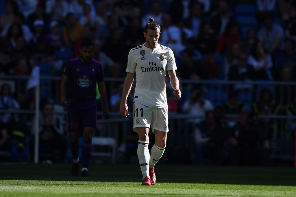 Bale has cut a forlorn figure at Real Madrid lately. (Photo by Denis Doyle/Getty Images)