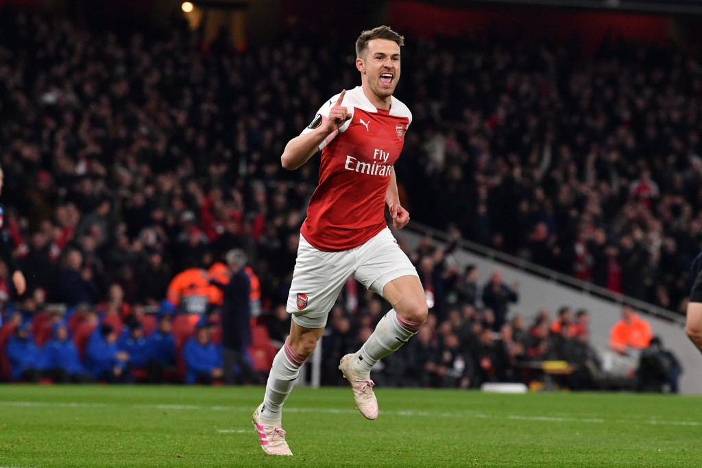 A former Arsenal star, could Ramsey be on his way to Tottenham? (Photo by Ben Stansall/AFP/Getty Images)