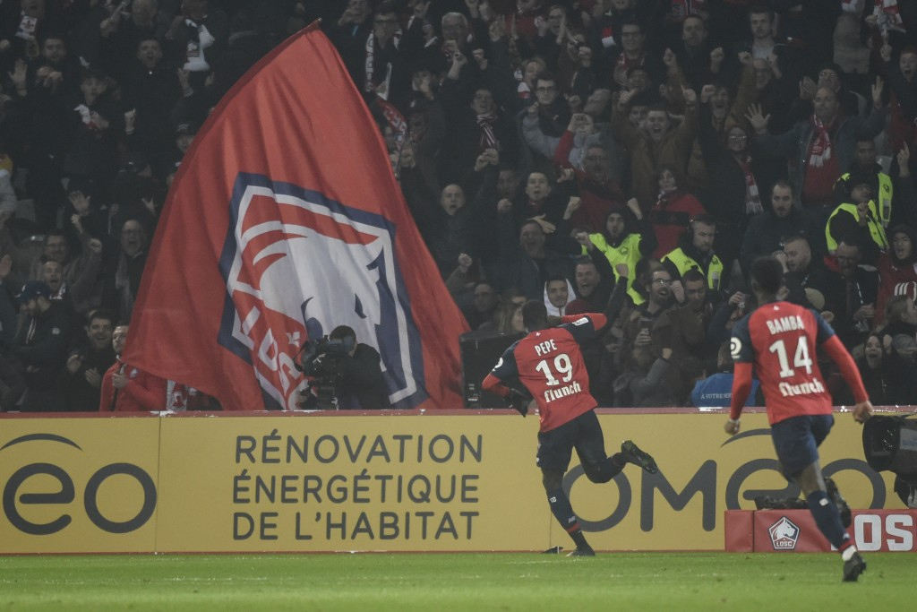 Nicolas Pepe has revered himself to the fans at Lille. But, it might be time for a step up. (Picture Courtesy - AFP/Getty Images)