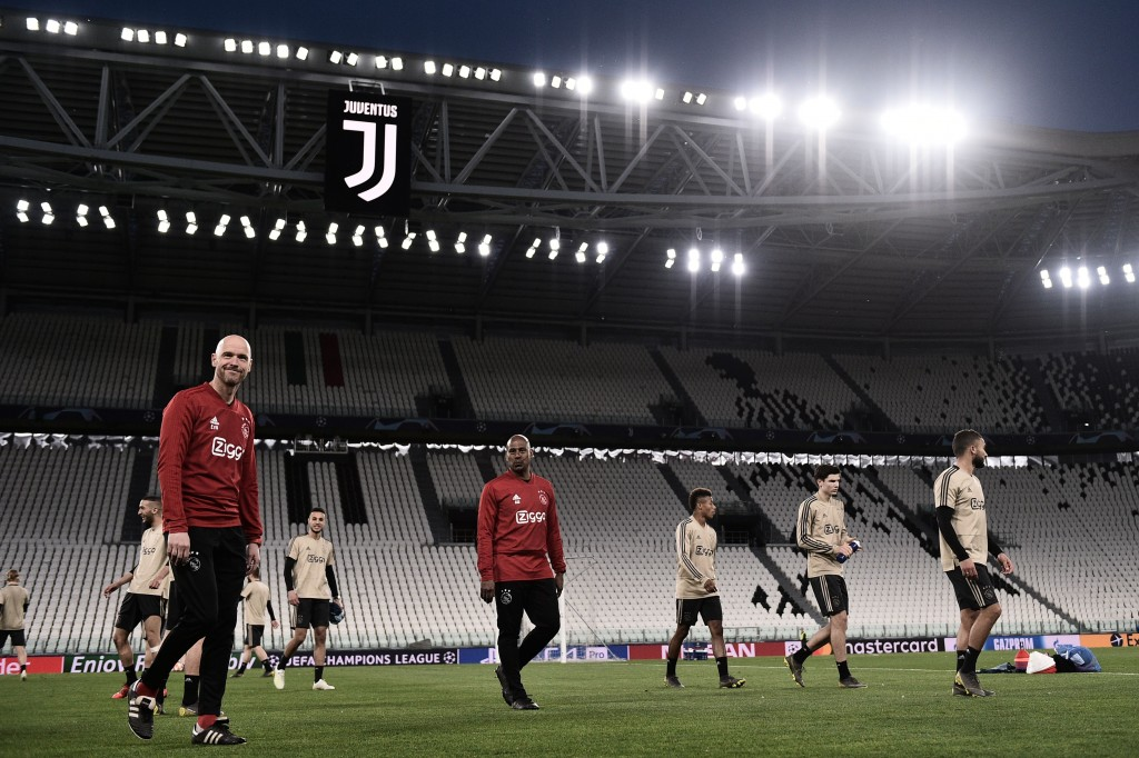 Can Ajax topple Juventus on Tuesday? (Photo by MARCO BERTORELLO/AFP/Getty Images)