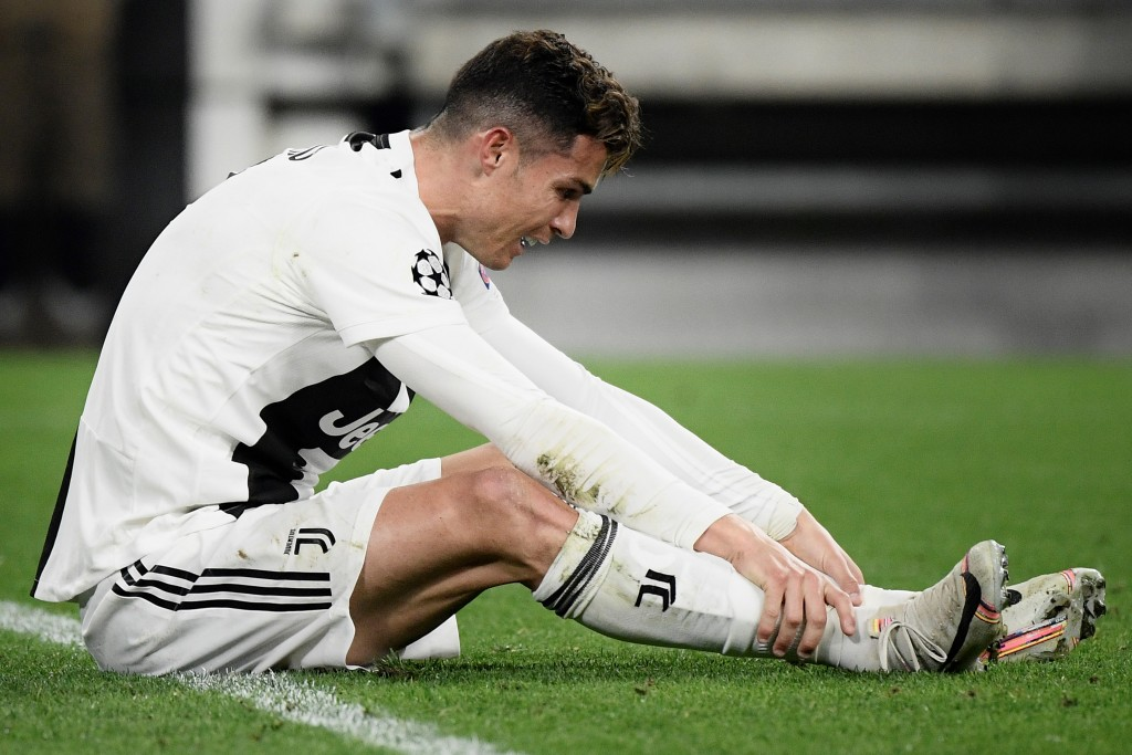 Ronaldo scored, but couldn't prevent a defeat (Photo credit should read FILIPPO MONTEFORTE/AFP/Getty Images)