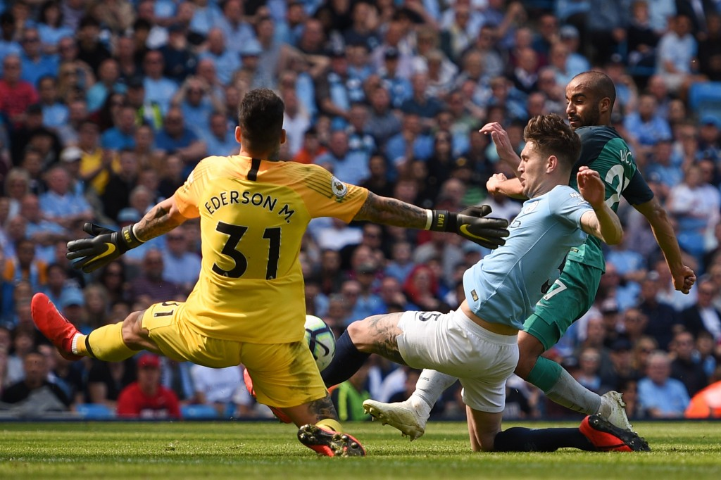 Ederson was in unbeatable form (Photo by OLI SCARFF/AFP/Getty Images)