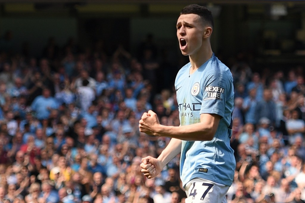 Foden scored his first PL goal (Photo by OLI SCARFF/AFP/Getty Images)