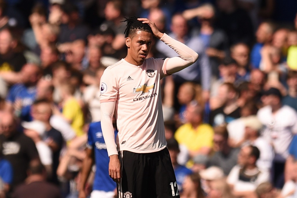Smalling did not have the best of games. (Photo by Oli Scarff/AFP/Getty Images)