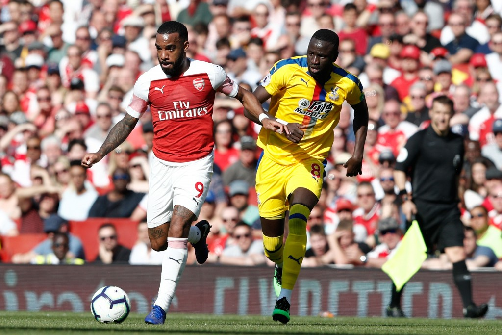 Lacazette was the best of the lot for Arsenal. (Photo by Adrian Dennis/AFP/Getty Images)