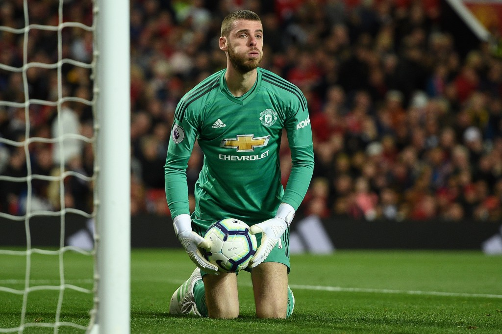 Will the real De Gea please stand up? (Photo by Oli Scarff/AFP/Getty Images)