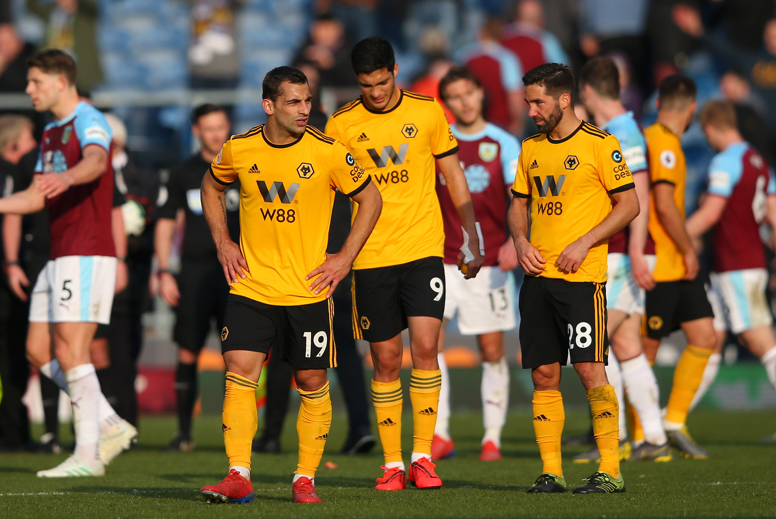 Jonny and Raul Jimenez are out injured while Joao Moutinho is suspended (Photo by Alex Livesey/Getty Images)