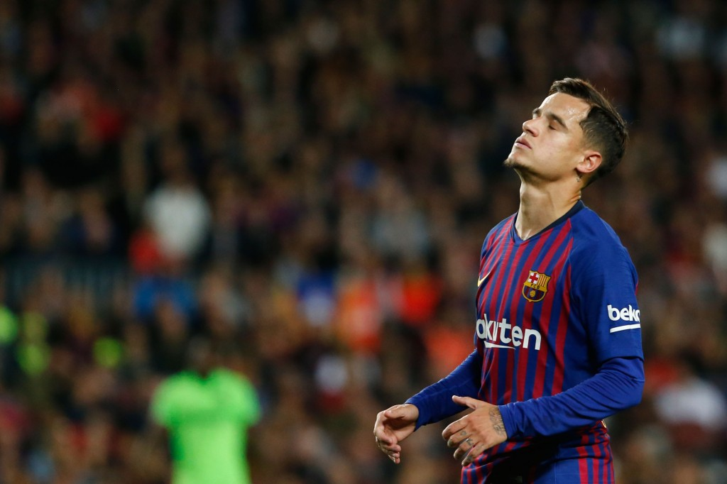 Philippe Coutinho remains at Barcelona despite adding very little, if at all, to the team. (Photo by Pau Barrena/AFP/Getty Images)