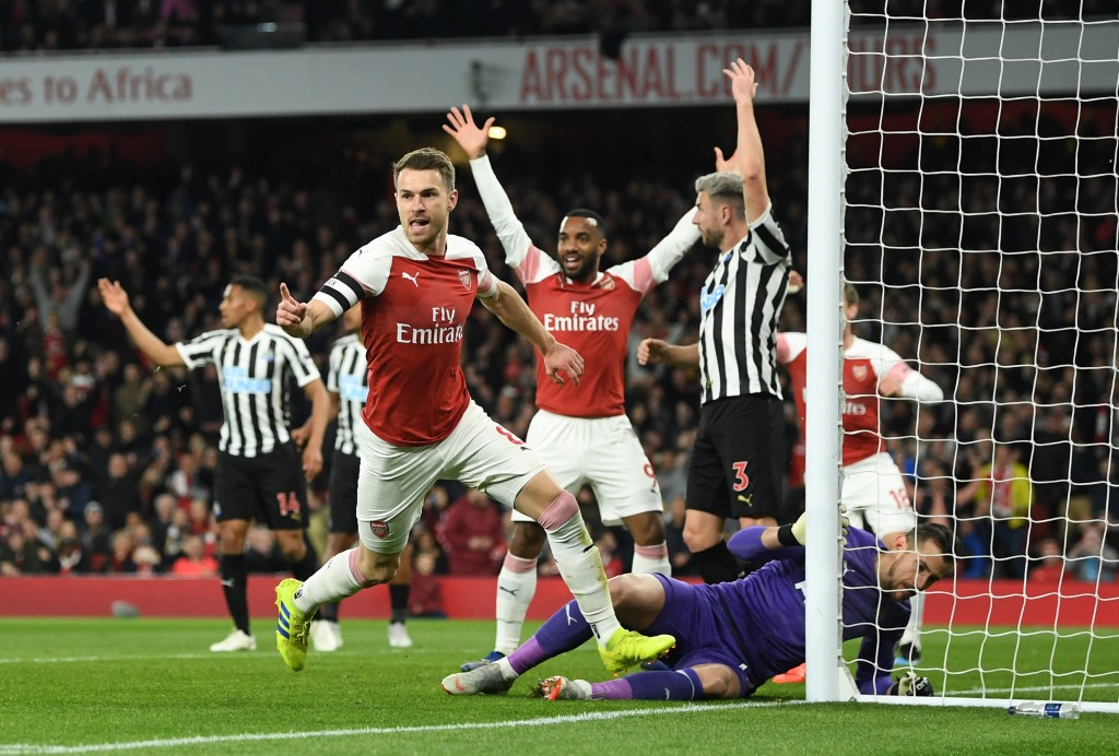 Ramsey was on fire against Newcastle. (Photo by Michael Regan/Getty Images)