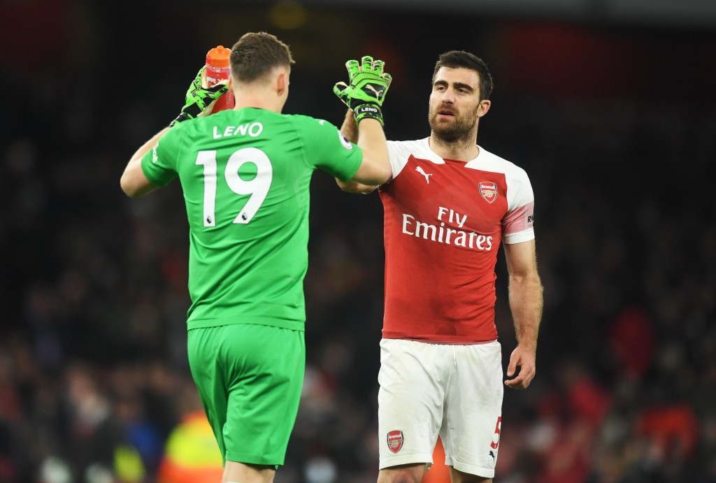 Sokratis was at the heart of Arsenal's defence that earned yet another clean sheet. (Photo by Michael Regan/Getty Images)