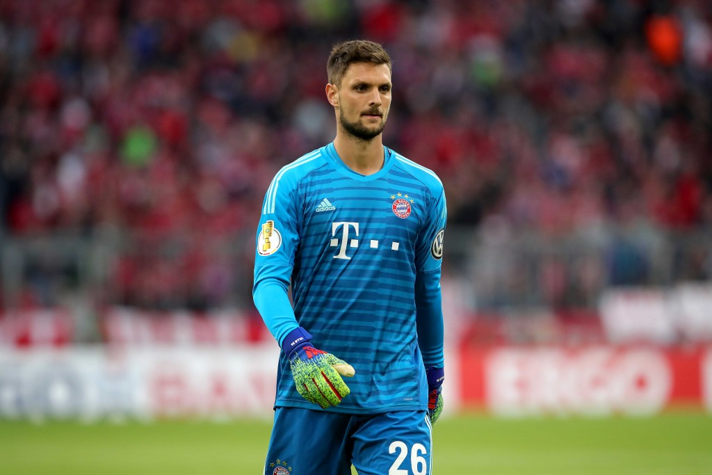 MUNICH, GERMANY - APRIL 03: Sven Ulreich of Muenchen looks on during the DFB Cup match between FC Bayern Muenchen and 1. FC Heidenheim at Allianz Arena on April 03, 2019 in Munich, Germany. (Photo by Alexander Hassenstein/Bongarts/Getty Images)