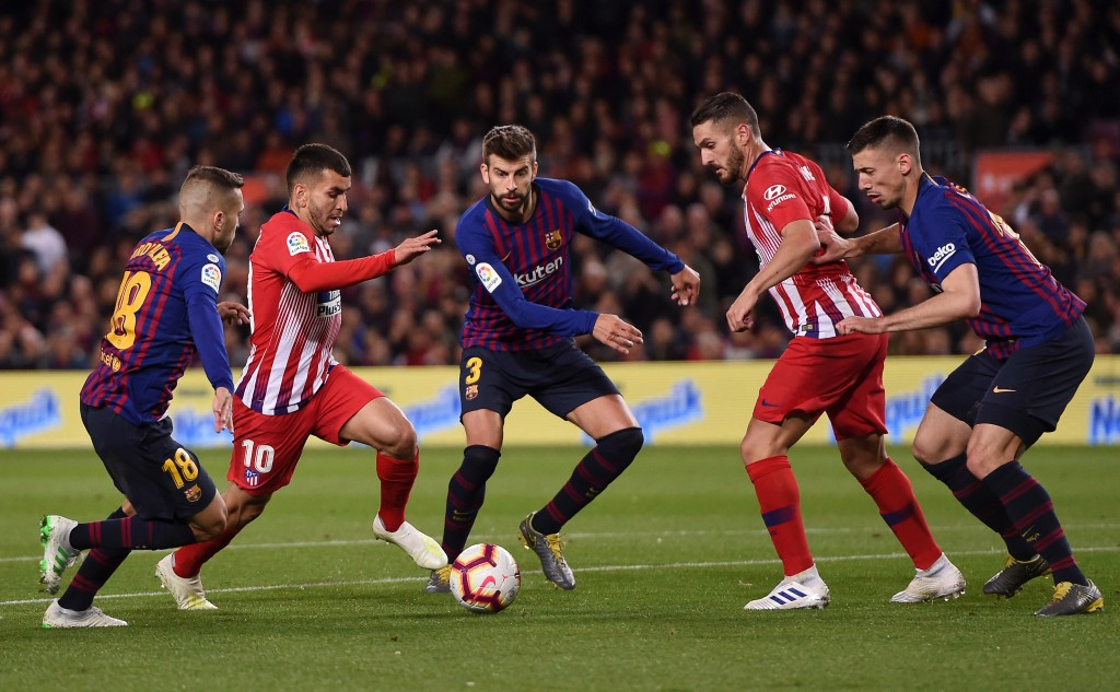 Lenglet and Pique were colossal at the back. (Photo by Alex Caparros/Getty Images)