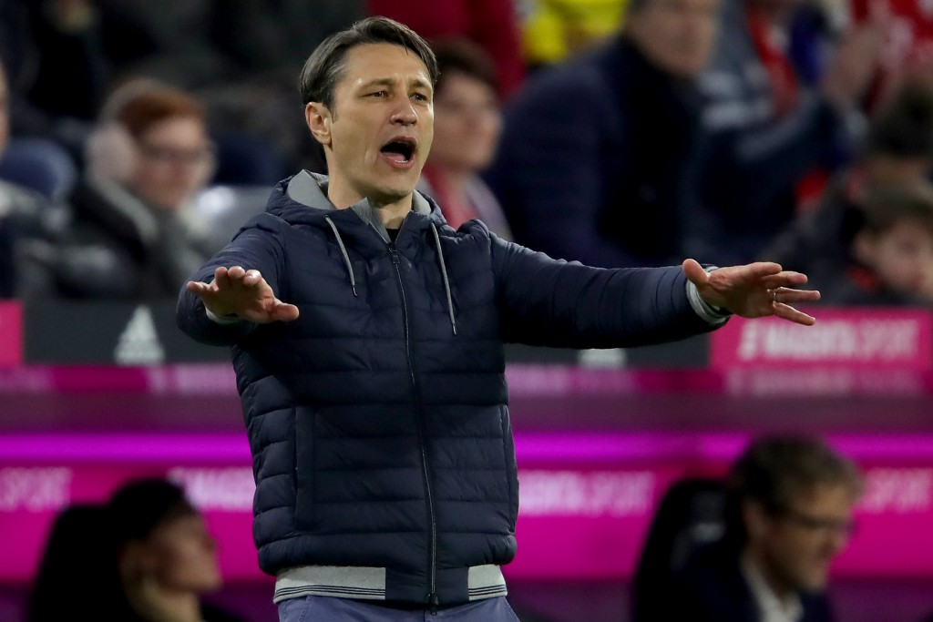 MUNICH, GERMANY - APRIL 06: Niko Kovac, head coach of FC Bayern Muenchen reacts during the Bundesliga match between FC Bayern Muenchen and Borussia Dortmund at Allianz Arena on April 06, 2019 in Munich, Germany. (Photo by Alexander Hassenstein/Bongarts/Getty Images)