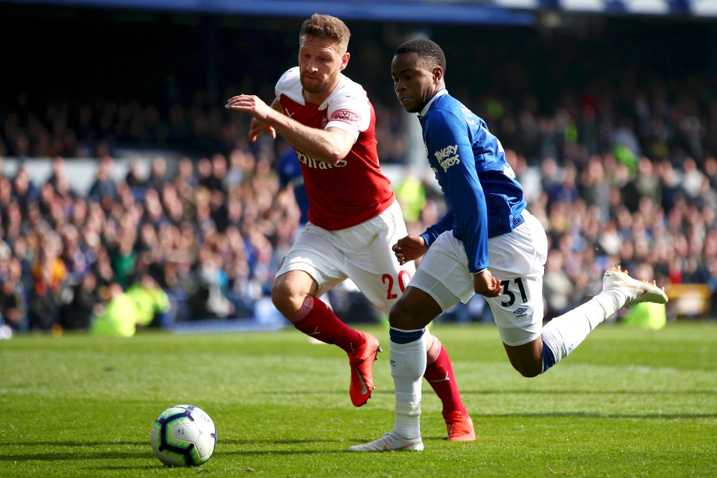 Mustafi is proving to be a liability for Arsenal. (Photo by Clive Brunskill/Getty Images)