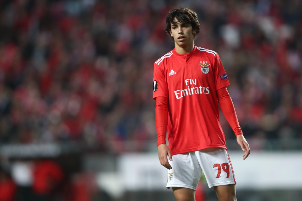 LISBON, PORTUGAL - APRIL 11: Joao Felix of Benfica reacts during the UEFA Europa League Quarter Final First Leg match between Benfica and Eintracht Frankfurt at Estadio do Sport Lisboa e Benfica on April 11, 2019 in Lisbon, Portugal. (Photo by Alex Grimm/Getty Images)
