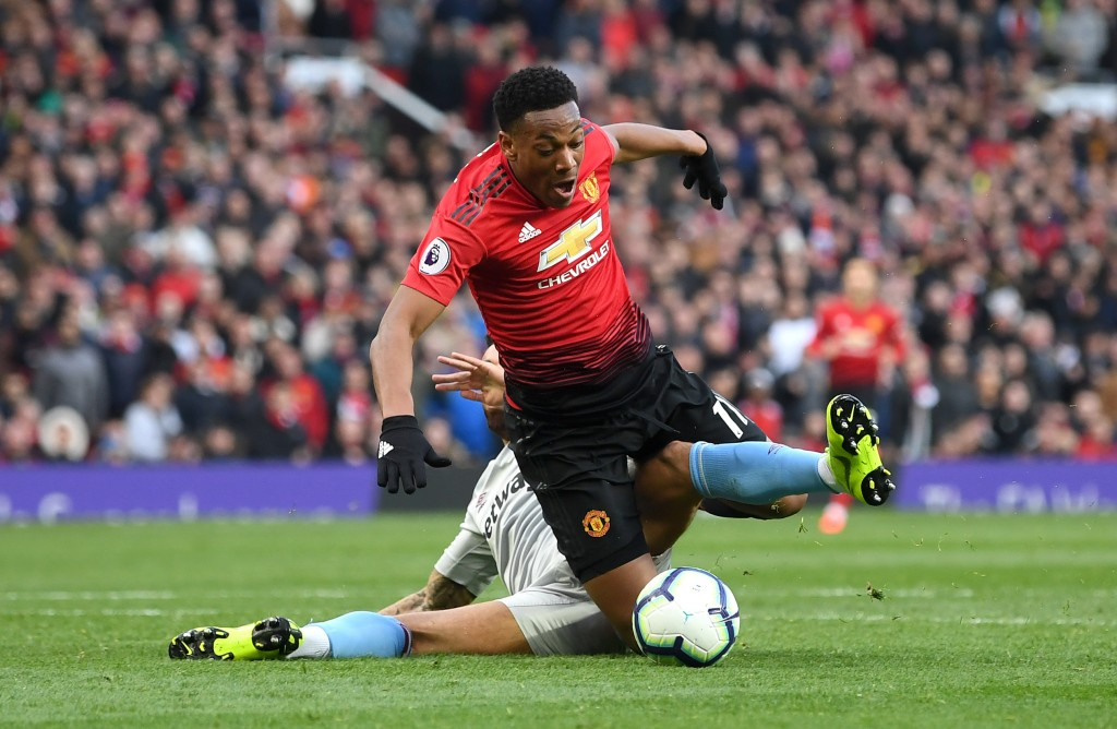 Apart from winning the penalty, Martial did nothing of note (Photo by Michael Regan/Getty Images)