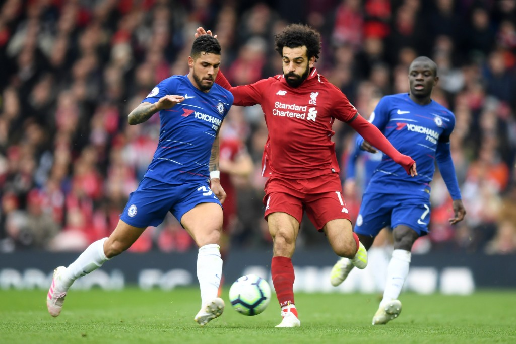 Emerson struggled against Salah (Photo by Michael Regan/Getty Images)
