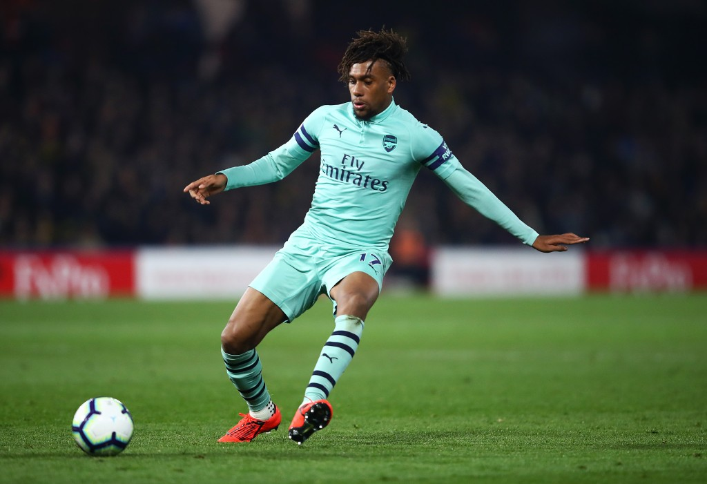 Alex Iwobi was Arsenal's best attacker on the night. (Photo by Julian Finney/Getty Images)