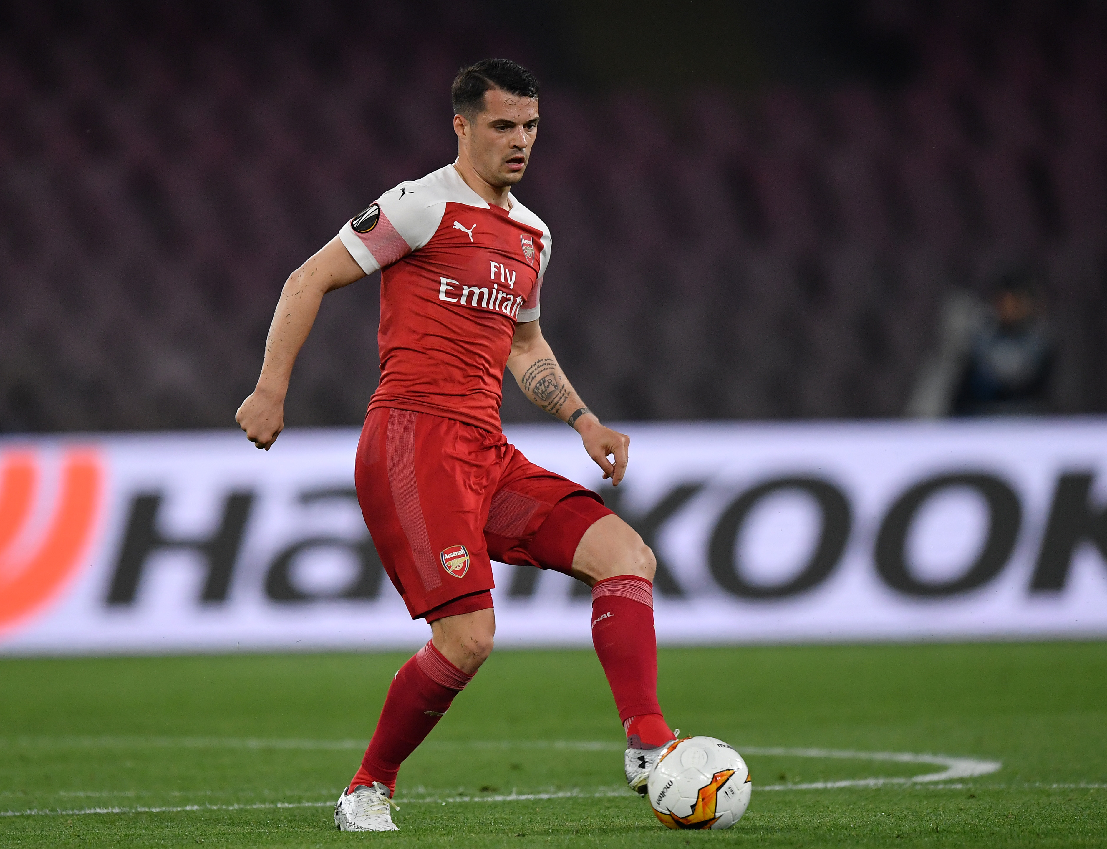 Xhaka was a dominant force in midfield. (Photo courtesy: AFP/Getty)