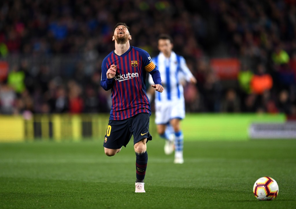 Messi had a rare off day. (Photo by David Ramos/Getty Images)