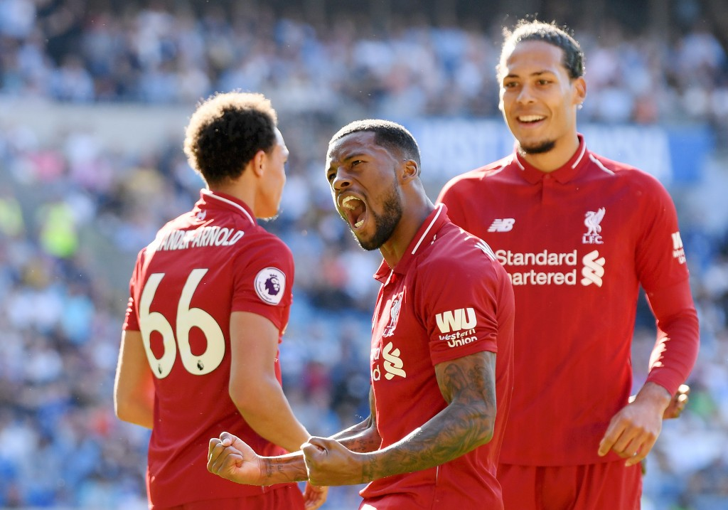 Wijnaldum scored the opener for Liverpool (Photo by Mike Hewitt/Getty Images)