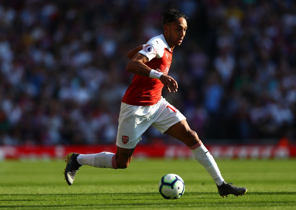 Aubameyang's goal could not save Arsenal. (Photo by Clive Rose/Getty Images)