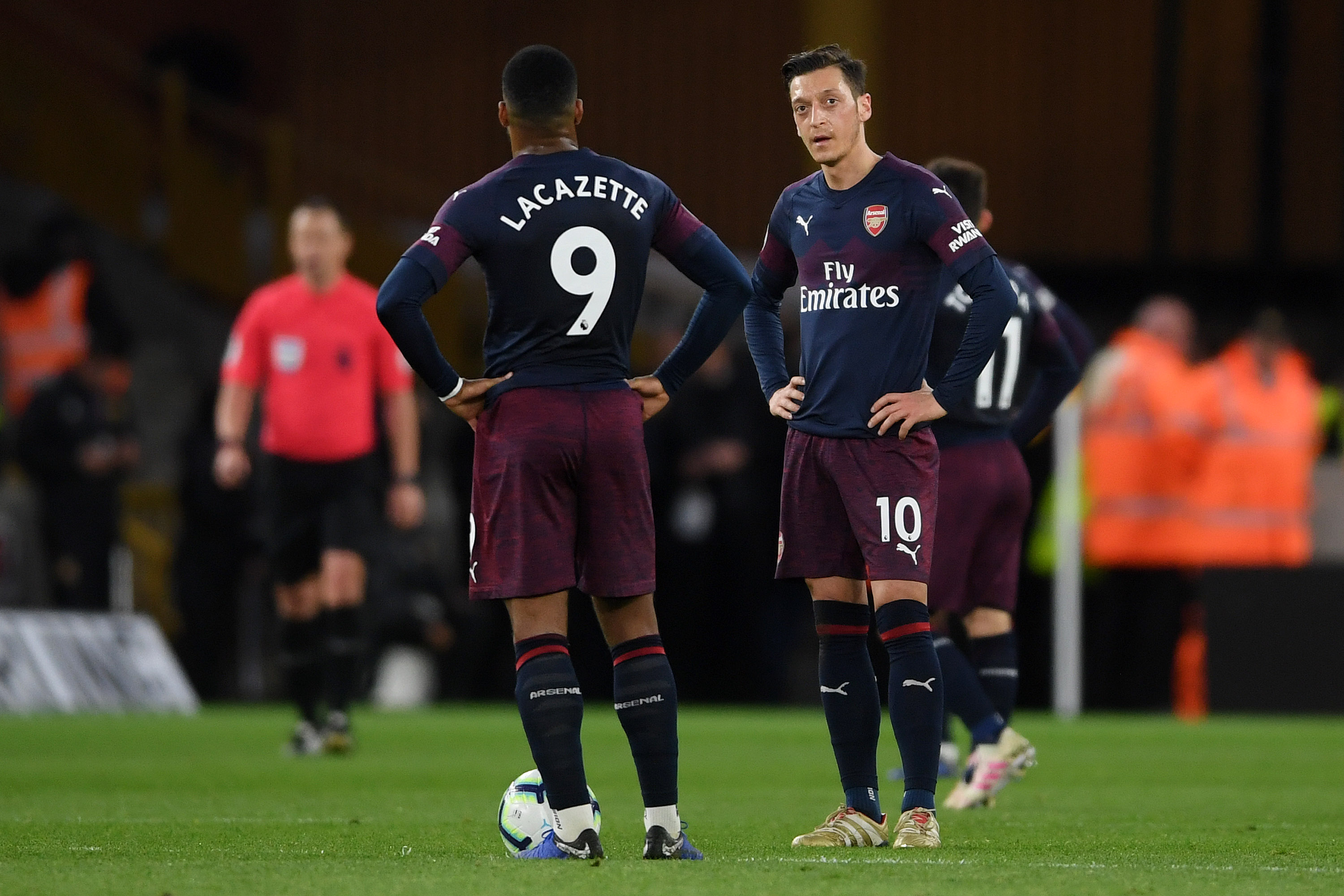 Arsenal attackers had a terrible night against Wolves. (Photo courtesy: AFP/Getty)