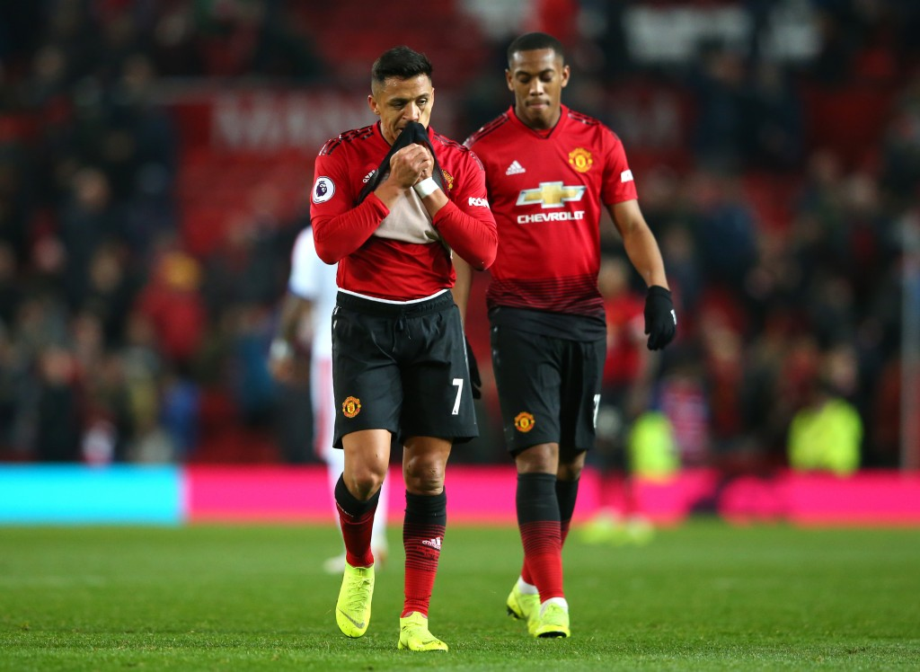 Sanchez, Martial are both under fire at Manchester United. (Picture Courtesy - AFP/Getty Images)