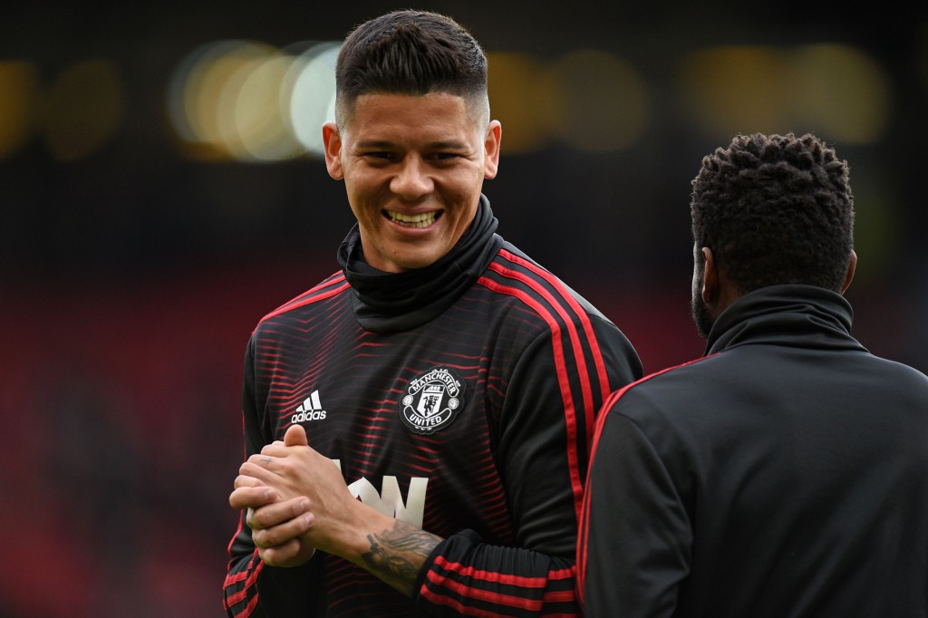Manchester United set to offload Marcos Rojo (Photo by OLI SCARFF/AFP/Getty Images)