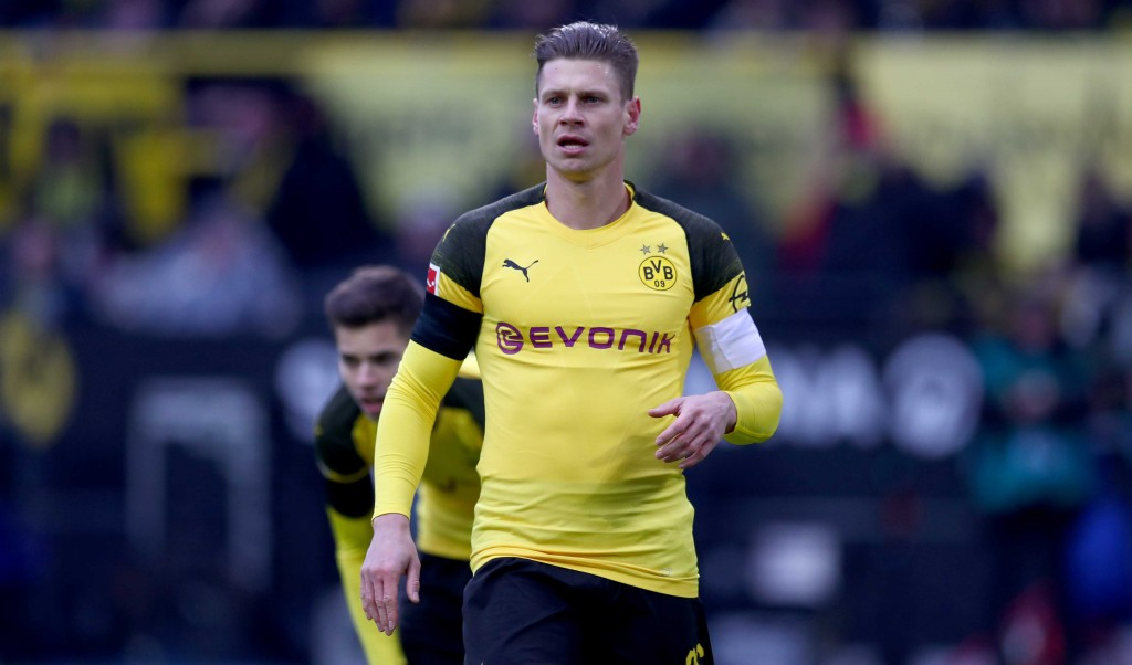 DORTMUND, GERMANY - FEBRUARY 09: Lukasz Piszczek of Dortmund looks on during the Bundesliga match between Borussia Dortmund and TSG 1899 Hoffenheim at Signal Iduna Park on February 09, 2019 in Dortmund, Germany. (Photo by Lars Baron/Bongarts/Getty Images)