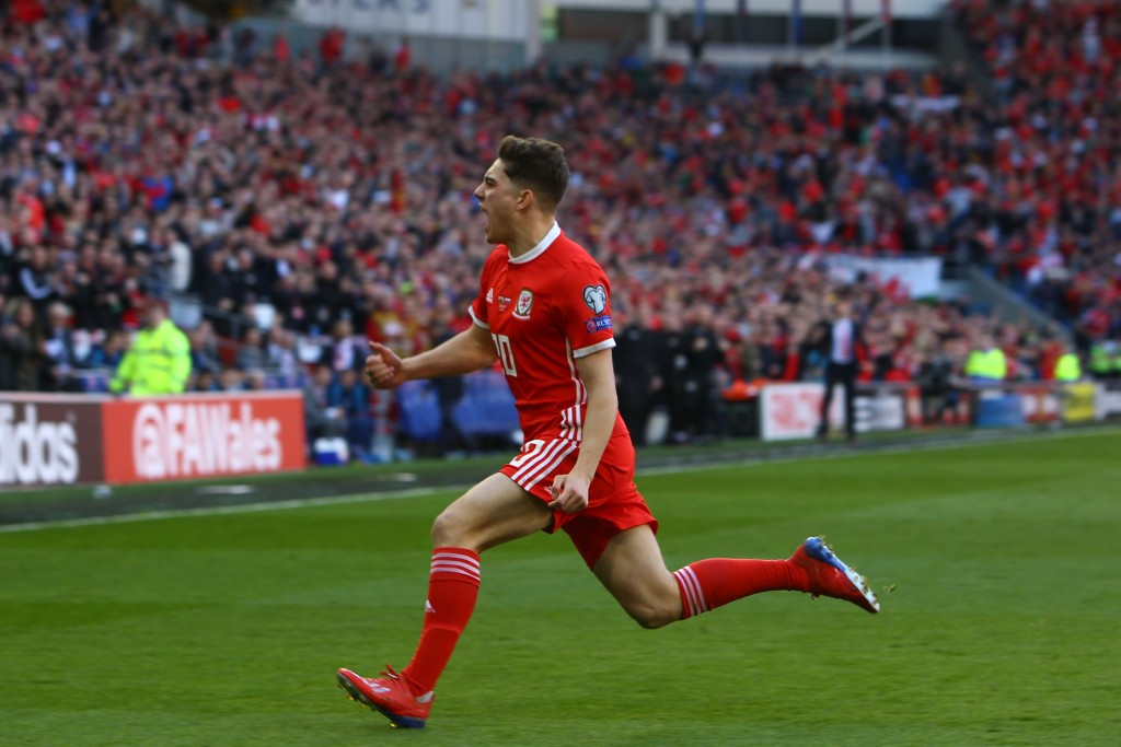 Will Daniel James star for Wales against Ireland? (Photo by Geoff Caddick/AFP/Getty Images)