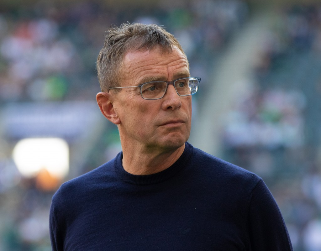 MOENCHENGLADBACH, GERMANY - APRIL 20: Manager Ralf Rangnick of Leipzig looks on during the Bundesliga match between Borussia Moenchengladbach and RB Leipzig at Borussia-Park on April 20, 2019 in Moenchengladbach, Germany. (Photo by Juergen Schwarz/Bongarts/Getty Images)