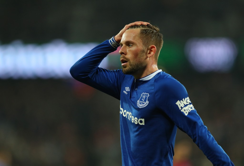 LONDON, ENGLAND - MARCH 30: Gylfi Sigurdsson of Everton during the Premier League match between West Ham United and Everton FC at London Stadium on March 30, 2019 in London, United Kingdom. (Photo by Catherine Ivill/Getty Images)