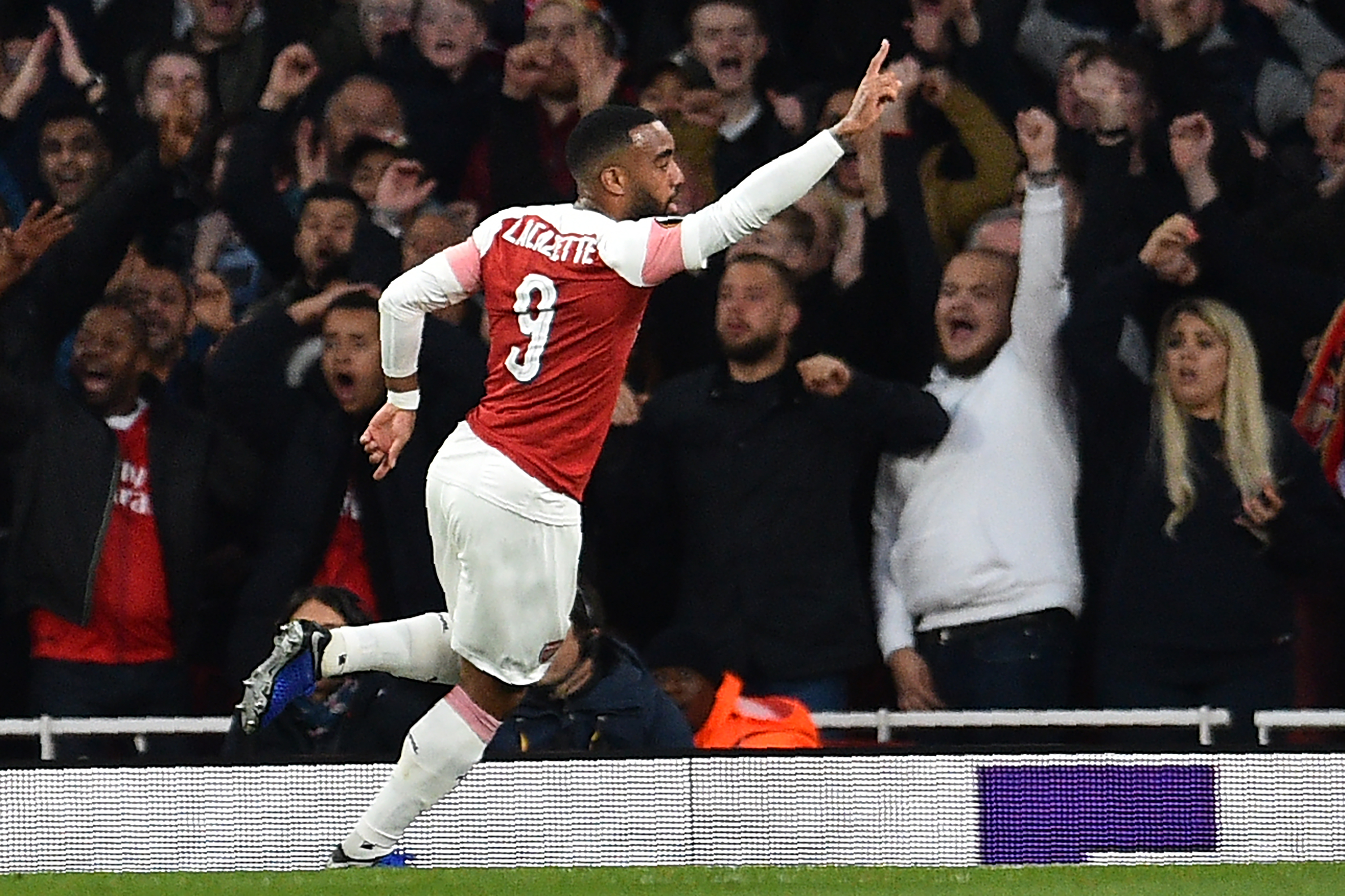 Laca on fire with two goals against Valencia. (Photo courtesy:AFP/Getty)