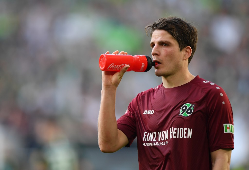 WOLFSBURG, GERMANY - APRIL 06: Pirmin Schwegler of Hannover looks dejected after the Bundesliga match between VfL Wolfsburg and Hannover 96 at Volkswagen Arena on April 06, 2019 in Wolfsburg, Germany. (Photo by Stuart Franklin/Bongarts/Getty Images)