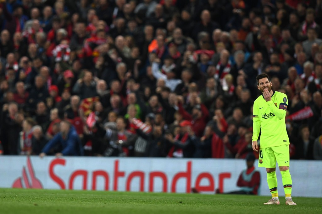 No Messi magic on Tuesday (Photo by PAUL ELLIS/AFP/Getty Images)