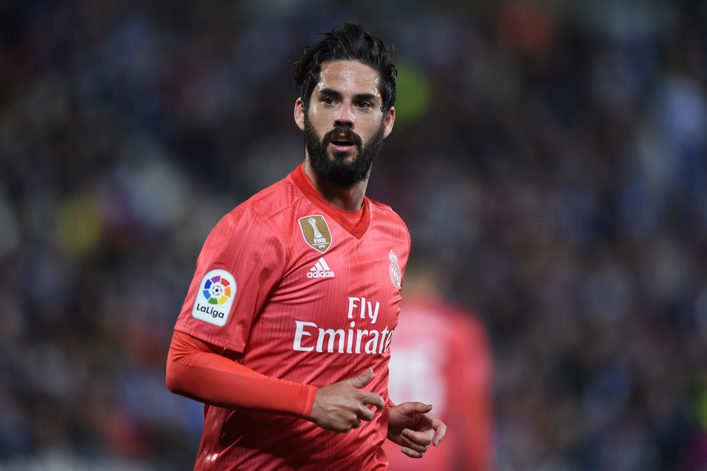 LEGANES, SPAIN - APRIL 15: Isco Alarcon of Real Madrid looks on during the La Liga match between CD Leganes and Real Madrid CF at Estadio Municipal de Butarque on April 15, 2019 in Leganes, Spain. (Photo by Denis Doyle/Getty Images)