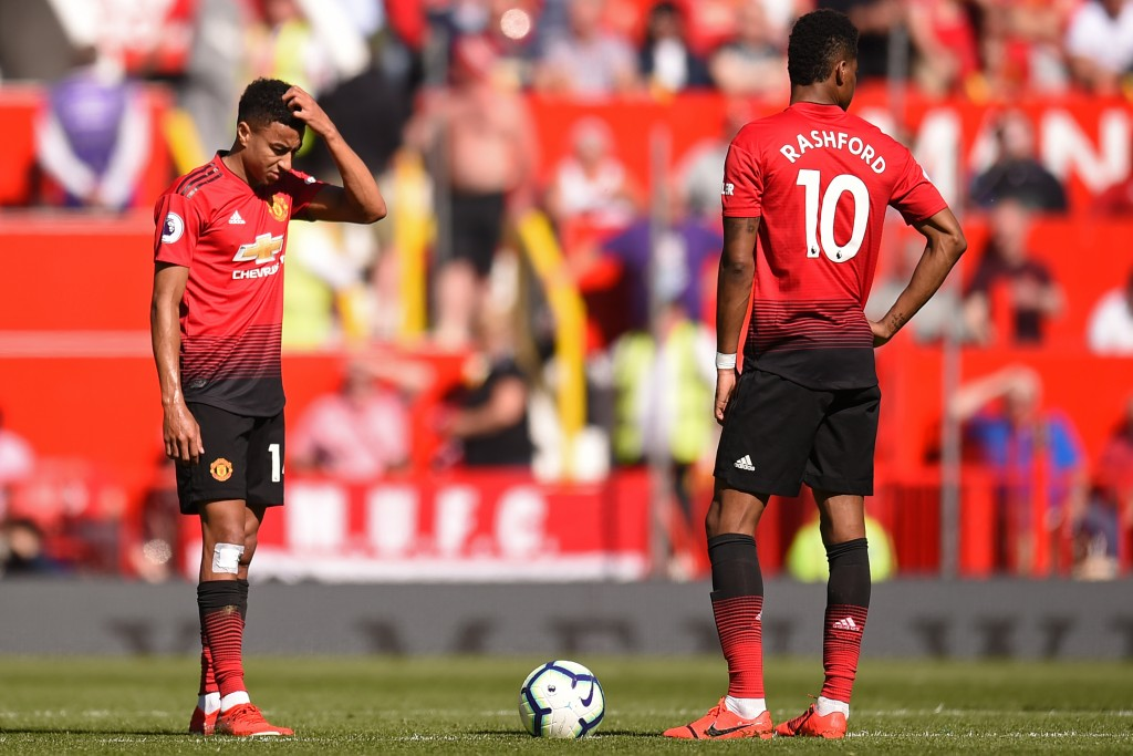Lingard and Rashford failed to deliver once again. (Photo by Oli Scarff/AFP/Getty Images)