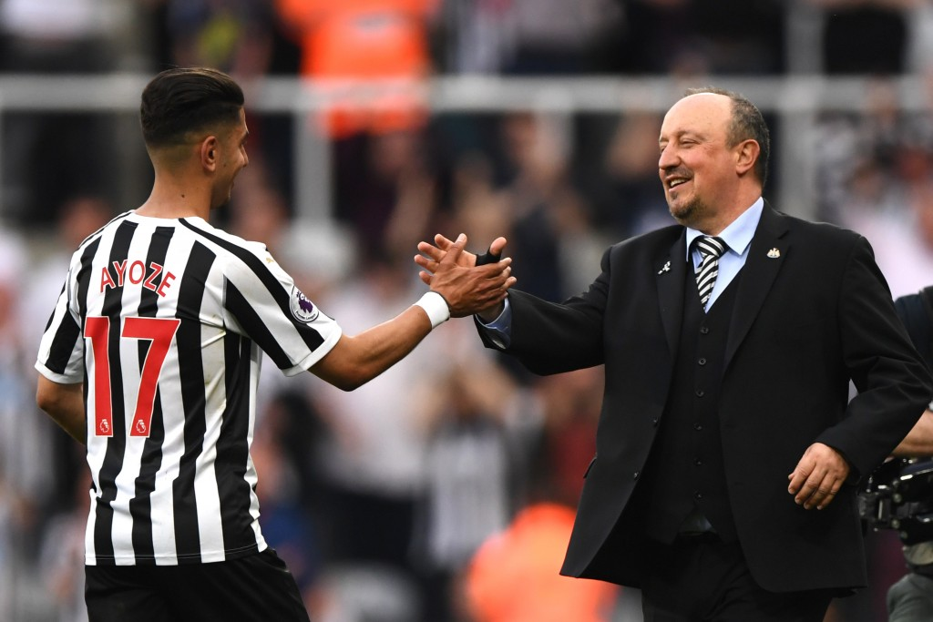 Ayoze Perez could be tempted to stay at Newcastle if Rafael Benitez renews his contract. (Picture Courtesy - AFP/Getty Images)