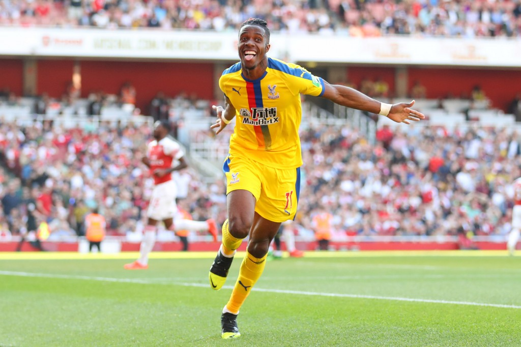 After tormenting them last month, could Zaha make his way to Arsenal soon? (Photo by Warren Little/Getty Images)