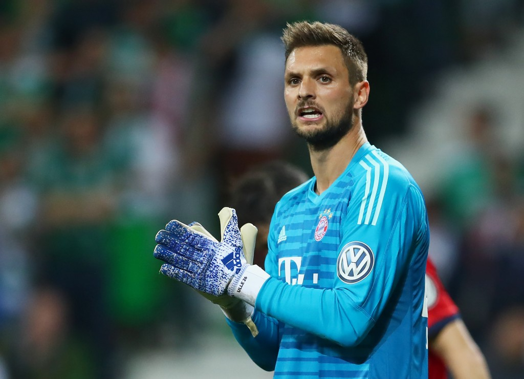 BREMEN, GERMANY - APRIL 24: Goalkeeper Sven Ulreich of FC Bayern Muenchen seen during the DFB Cup semi final match between Werder Bremen and FC Bayern Muenchen at Weserstadion on April 24, 2019 in Bremen, Germany. (Photo by Lars Baron/Bongarts/Getty Images)