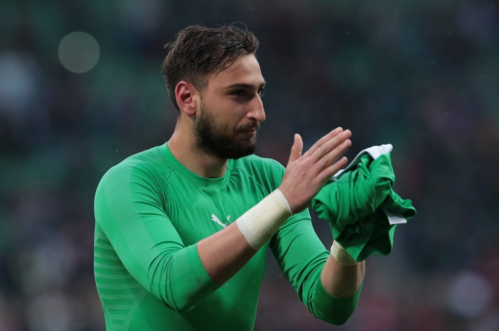 Could Donnarumma be heading to Manchester United? (Photo by Emilio Andreoli/Getty Images)