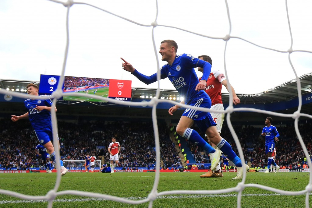 Vardy time at King Power! (Picture Courtesy - AFP/Getty Images)