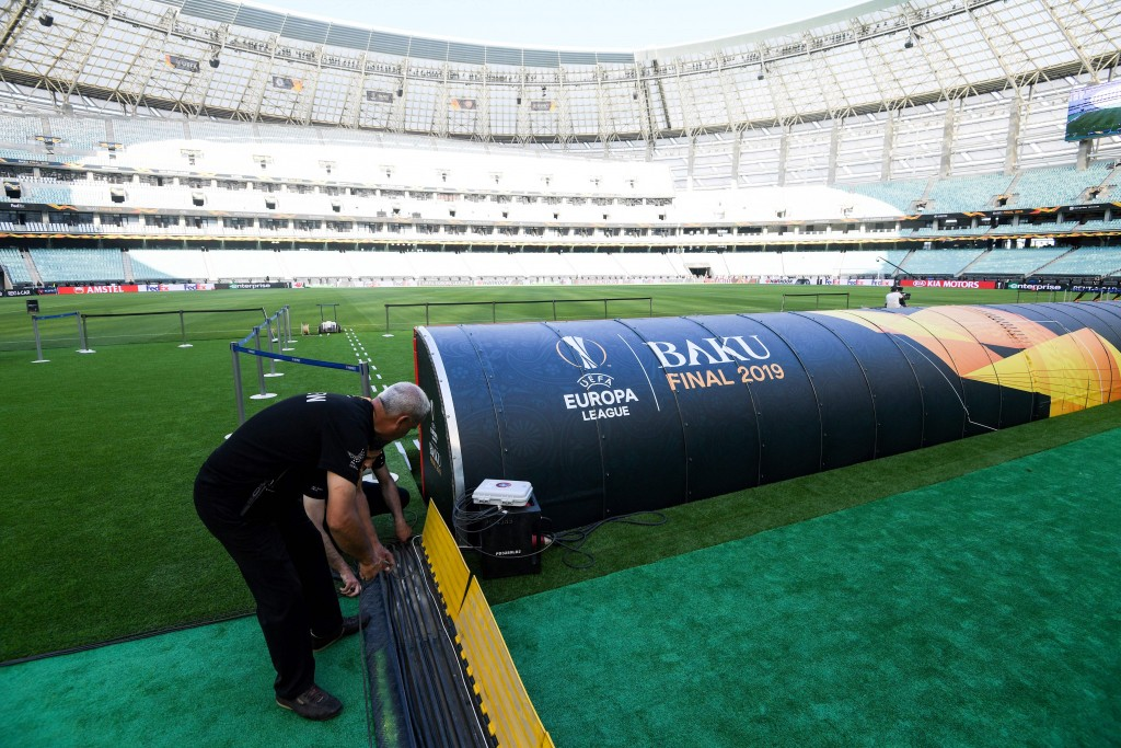 The Baku Olympic Stadium will provide the setting (Photo by Kirill Kudryavtsev/AFP/Getty Images)
